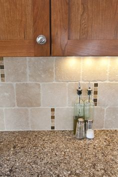 Cambria Canterbury Backsplash Ideas Space Was Finished With Travertine Backsplash Scattered