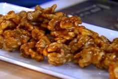 Maple Glazed Walnuts **** I made these for salad topping but seem to be eating them straight from the pan....yum!