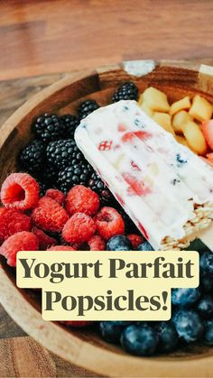 Healthy Low Carb Recipes, Healthy Food Choices, Healthy Fruits, Healthy Sweets, Healthy Dessert Recipes, Whole Food Recipes, Snack Recipes, Healthy Desserts With Fruit, Healthy Popsicle Recipes