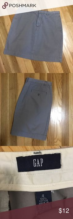 GAP Gray Khaki Skirt GAP brand khaki skirt. Perfect for spring and summer days. Super soft and in excellent condition. GAP Skirts