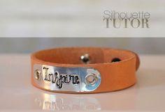 Silhouette Curio Tutorial: Leather Mantra Braceletes