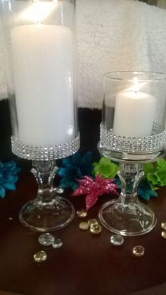 wedding centerpieces with candles and bling - Yahoo Search Results