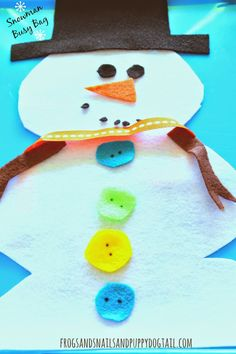 Snowman Busy Bag for kids on FSPDT #christmas #busybags #forkids