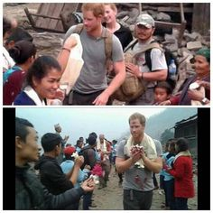 #princeharry arriving in the remote village Lapu #nepal