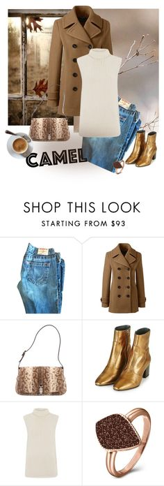 """Camel Coat!"" by gagenna ❤ liked on Polyvore featuring Lands' End, Gucci, Topshop, Theory and H.Azeem"