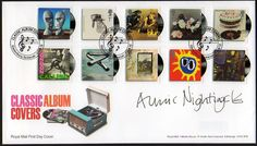 Classic album covers #stamps #first day cover #David Bowie