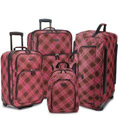 U.S. Traveler by Traveler's Choice Camarillo 4-piece Casual Luggage Set