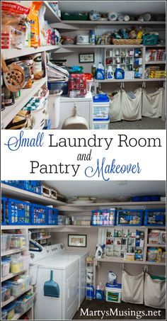 These easy laundry room ideas will convince you that even a small space can be efficient, organized and look great with inexpensive storage containers. #BIGDeal #ad