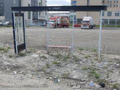 desolate bus stop d street southie boston