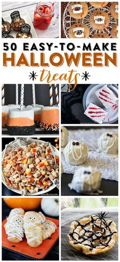Get in the spooky-spirit with these 50 delicious Halloween treats, all perfect for your Halloween parties!