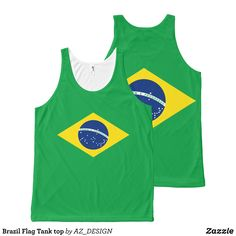 Brazil Flag Tank top - Comfy Moisture-Wicking Sport Tank Tops By Talented Fashion & Graphic Designers - #tanktops #gym #exercise #workout #mensfashion #apparel #shopping #bargain #sale #outfit #stylish #cool #graphicdesign #trendy #fashion #design #fashiondesign #designer #fashiondesigner #style