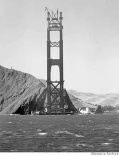 Date Unknown - Golden Gate Bridge construction. Photographer Unknown/ San Francisco Chronicle File Photo Photo: Chronicle Archives