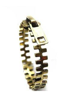 Chic Zipper Solid Dark Gold