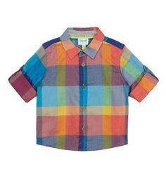 ac37abaddff37 Ted Baker Baby Boy Smart Shirt Checked Blue Orange DESIGNER 6-9 Months for  sale online