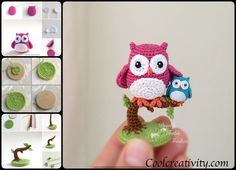 Crochet Cute Little Owls with free pattern are so fun to make because they truly come alive when you give them a face. They are great gifts to friends.