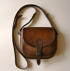 Bag  Bag in leather-bag  Hippie  Bohemian by antiquityfrench