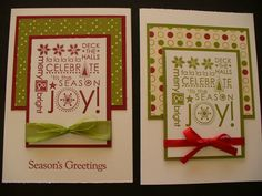 Season of joy Christmas Words by Tuppergirly - Cards and Paper Crafts at Splitcoaststampers