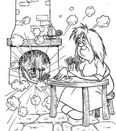 Merlin the Wizard Coloring Pages 8  Wizard theme ideas