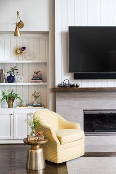 White painted vertical shiplap on fireplace wall and in backs of cabinetry - SW Extra White Best White Paint, White Paint Colors, White Paints, Fireplace Remodel, Fireplace Wall, Fireplace Design, Fireplace Lighting, Fireplace Update, Decoration Chic