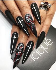 pinkeyy phea on nails i love in 2019  nails goth