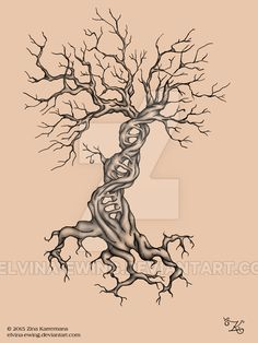 Tattoo DNA Tree without leaves by Elvina-Ewing