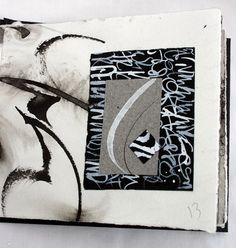 Journal Page from Black and White Book