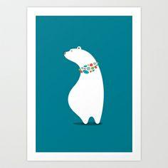 Polar Bear Art Print by vaughn shim - $18.00