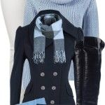 Winter Navy Nautical Coat Outfit