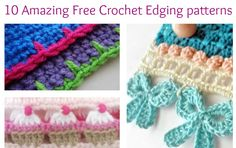 - Crochet Edgings - Lately, I've been skipping the crochet edging on some of my more simple pieces. Sometimes I just like a straight edge. Other times, I may be working on a project that is so vibrant or simple that it demands a particular type of edging. With so many to choose from, don&#