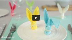 Velikonoční zajíček složený z ubrousku | Bystré děti