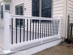 Deck Skirting Ideas - Deck skirting is a product affixed to support article as well as boards below a deck. Get some terrific suggestions for unique deck skirting treatments in this . Front Porch Railings, Porch Columns, Porch Steps, Deck Railings, Railing Ideas, Balcony Railing, Patio Roof, Outdoor Deck Decorating, Outdoor Ideas