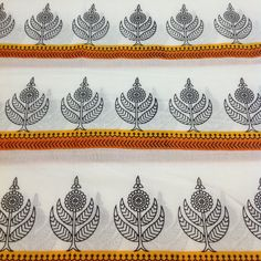 Items similar to Orange and Black Block Print Fabric - Floral Print Cotton Fabric - Black and White Fabric by Yard on Etsy Motifs Textiles, Textile Prints, Floral Prints, Indian Block Print, Indian Prints, Indian Textiles, Block Printing Designs, Kalamkari Designs, Fabric Embellishment