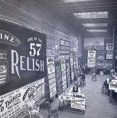 This is one of our favourites from our collection of vintage sign shop pictures. This is one of the sign shops heins ketchup had back in the early 1900's. #signwriter #signpainter #signwriting #signpainting #wallsigns #signs #signage #handmade #handpainted #handlettering #handcrafted #handpaintedsign #ketchup #heinz57 #typography #vintagesign