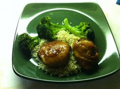Honey Garlic Chicken recipe that is made with two ingredients.