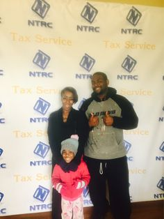 The NTRC Tax Service Motto:  Smiles & Checks!!  Thanks to this Beautiful young family for letting us help them with their financial future.   4568 covington Highway Decatur, Ga 30035. 404-512-2885 #tax #tax service #advance loan #accountant#income tax #ntrc #atl.