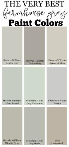 The very best farmhouse gray paint colors for your home by mildred. The very best farmhouse gray paint colors for your home by mildred. Living Room Paint and Decor Best Gray Paint, Best Neutral Paint Colors, Paint Colors For Home, Interior Paint Colors, Best Bedroom Paint Colors, Paint Colours, Colors For Walls, Paint Colors Laundry Room, Paint Colors For Kitchens