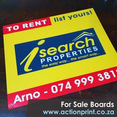 Digital full colour to rent correx boards. Cheap Advertising, Advertising Signs, Event Signage, Outdoor Signage, Corrugated Plastic Signs, Photo Direct, Real Estate Signs, Clip Frame, Name Stickers