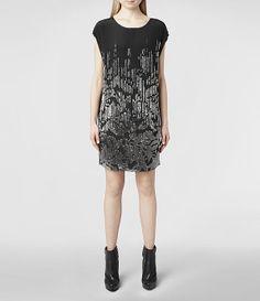 Womens Livie Dress (Black)   ALLSAINTS.com
