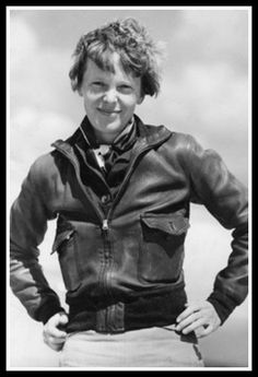 Amelia Earhart: she had to start and stop several life paths but eventually she launched, reached cruising altitude and soared into history. Never give up trying to find your place in this world. (Love the spunk, sass and charm of this shot. And the jacket. Rock that, Amelia!)
