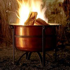 Rustic Copper Fire Pit
