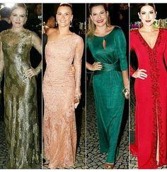 As Fernandas arrasaram. Vestidos lindíssimos - Verde e Vermelho - Fernanda Souza e Fernanda Paes Leme - casamento preta Gil