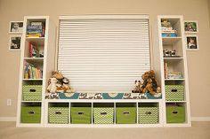 ikea kid toy storage shelves, organizing