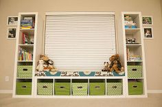 ikea kid toy storage shelves, organizing