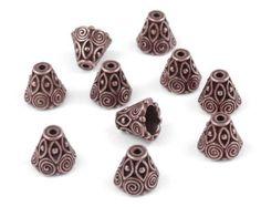 144 Copper Beadcaps 6mm Antique Copper Bead Caps by LythaStudios