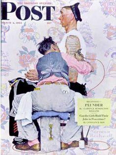 """1944-03-04: """"Tattoo Artist"""" (Norman Rockwell)"""