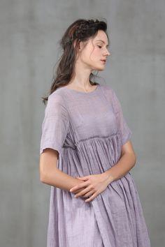 Linen Tunic Dress, Wool Dress, Linen Dresses, Cotton Dresses, Fuschia Dress, White Linen Shirt, Boho Wedding Dress, Cold Shoulder Dress, Etsy