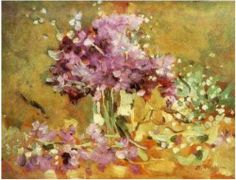 Violets by Stefan Luchian Night At The Museum, Different Art Styles, Art Database, Vintage Artwork, Beautiful Dream, Color Of Life, Flower Pictures, Art World, Impressionism