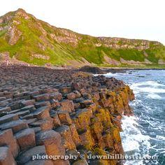Sunset at the Giant's Causeway County Antrim Northern Ireland by downhillhostel.com http://www.downhillhostel.com/wp-content/uploads/2012/07/giants_causeway_hostel_sunset_photography_2-copy.jpg