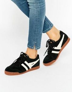 1bfe639358f Gola Classic Harrier Sneakers In Black   Ecru