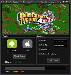How to Use RollerCoaster Tycoon 4 Hack Online 2017 Tool